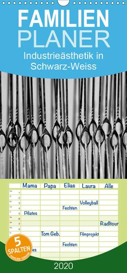 Industrieästhetik in Schwarz-Weiss – Familienplaner hoch (Wandkalender 2020 , 21 cm x 45 cm, hoch) von Bücker,  Michael, Grasse,  Dirk, Hegerfeld-Reckert,  Anneli, Uppena,  Leon