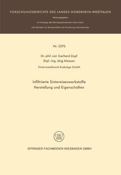 Infiltrierte Sintereisenwerkstoffe von Zapf,  Gerhard