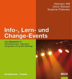 Info-, Lern- und Change-Events von Polewsky,  Susanne, Will,  Hermann, Wünsch,  Ulrich