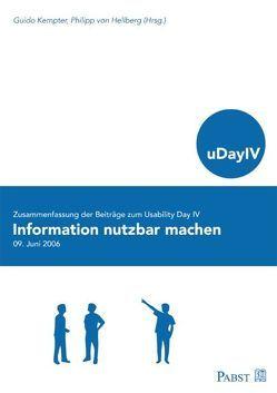 Information nutzbar machen von Hellberg,  Philipp von, Kempter,  Guido