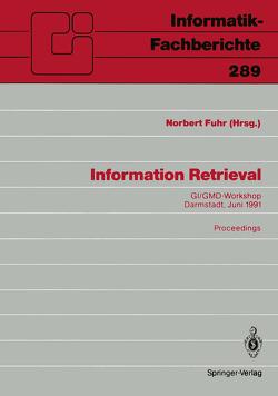 Information Retrieval von Fuhr,  Norbert