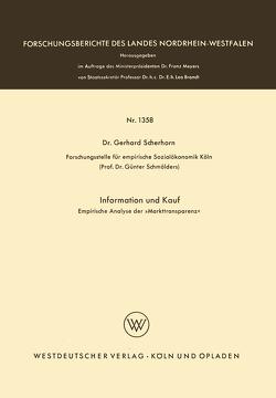 Information und Kauf von Scherhorn,  Gerhard