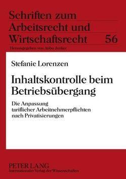 Inhaltskontrolle beim Betriebsübergang von Lorenzen,  Stefanie