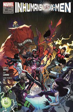 Inhumans vs. X-Men von Garron,  Javier, Lemire,  Jeff, Petz,  Jürgen, Soule,  Charles, Yu,  Leinil Francis