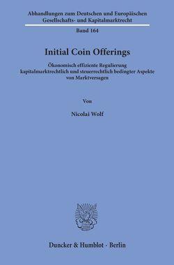 Initial Coin Offerings. von Wolf,  Nicolai