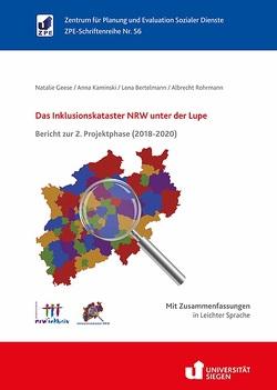 Das Inklusionskataster NRW unter der Lupe von Bertelmann,  Lena, Geese,  Natalie, Kaminski,  Anna, Rohrmann,  Albrecht