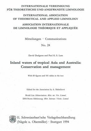 Inland waters of tropical Asia and Australia von Dudgeon,  David, Lam,  Paul K, Sládecková,  A