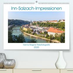 Inn-Salzach-Impressionen (Premium, hochwertiger DIN A2 Wandkalender 2020, Kunstdruck in Hochglanz) von Wagner,  Hanna