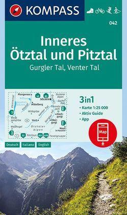 Inneres Ötztal und Pitztal, Gurgler Tal, Venter Tal von KOMPASS-Karten GmbH