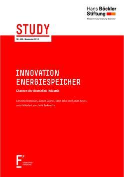 Innovation Energiespeicher von Brandstätt,  Christine, Gabriel,  Jürgen, Jahn,  Karin, Peters,  Fabian