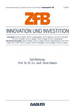 Innovation und Investition von Albach,  Horst