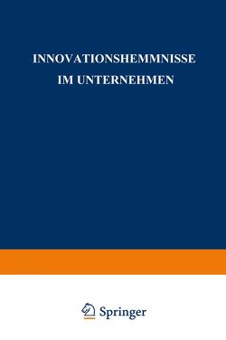 Innovationshemmnisse im Unternehmen von Bitzer,  Bernd