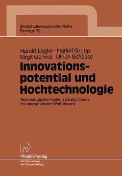 Innovationspotential und Hochtechnologie von Gehrke,  Birgit, Grupp,  Hariolf, Legler,  Harald, Schasse,  Ulrich