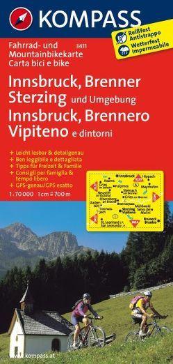 Innsbruck – Brenner – Sterzing von KOMPASS-Karten GmbH