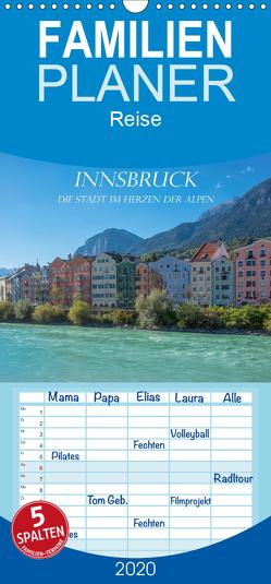 Innsbruck – Die Stadt im Herzen der Alpen – Familienplaner hoch (Wandkalender 2020 , 21 cm x 45 cm, hoch) von und Philipp Kellmann,  Stefanie
