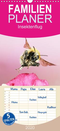 Insektenflug – Familienplaner hoch (Wandkalender 2020 , 21 cm x 45 cm, hoch) von Schmidt,  Jürgen