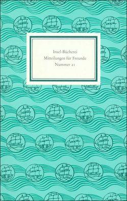 Insel-Bücherei. Mitteilungen für Freunde von Insel Verlag