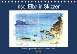 Insel Elba in Skizzen (Tischkalender 2018 DIN A5 quer) von Kirko,  Marisa