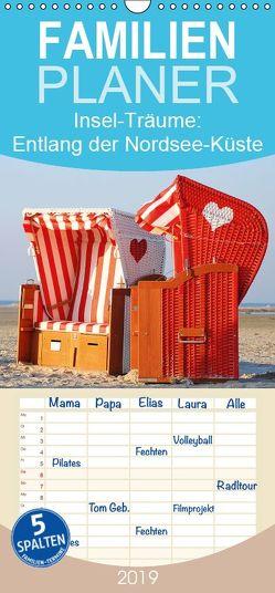 Insel-Träume: Entlang der Nordsee-Küste – Familienplaner hoch (Wandkalender 2019 <strong>21 cm x 45 cm</strong> hoch) von CALVENDO