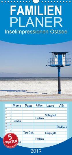 Inselimpressionen Ostsee – Familienplaner hoch (Wandkalender 2019 , 21 cm x 45 cm, hoch) von ledieS,  Katja