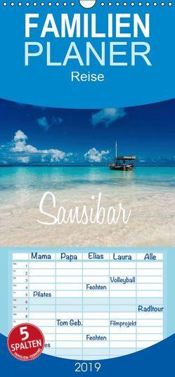 Inselparadies Sansibar – Familienplaner hoch (Wandkalender 2019 , 21 cm x 45 cm, hoch) von Becker,  Stefan