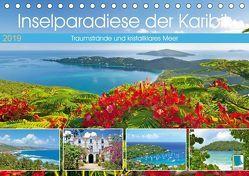 Inselparadiese der Karibik (Tischkalender 2019 DIN A5 quer) von CALVENDO
