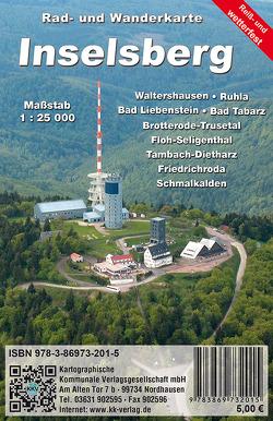 Inselsberg von Kartographische Kommunale Verlagsgesellschaft mbH