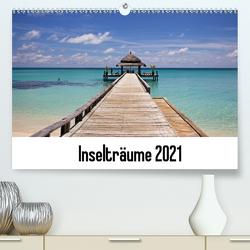 Inselträume 2021 (Premium, hochwertiger DIN A2 Wandkalender 2021, Kunstdruck in Hochglanz) von Päch,  Henrik