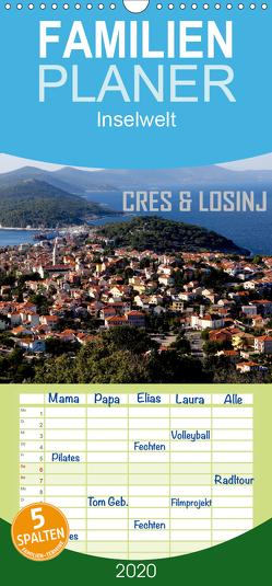 Inselwelt Cres & Losinj – Familienplaner hoch (Wandkalender 2020 , 21 cm x 45 cm, hoch) von Sock,  Reinhard