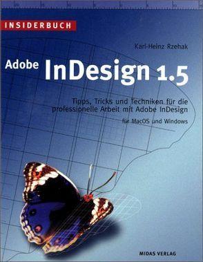 Insiderbuch Adobe InDesign 1.5 von Rzehak,  Karl H