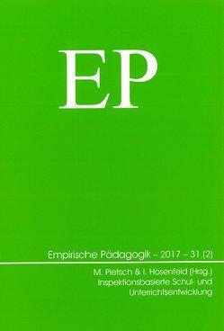 Inspektionsbasierte Schul- und Unterrichtsentwicklung von Hosenfeld,  Ingmar, Pietsch,  Marcus