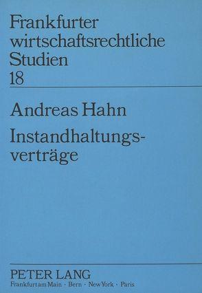 Instandhaltungsverträge von Hahn,  Andreas