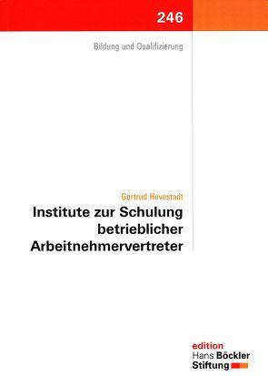 Institute zur Schulung betrieblicher Arbeitnehmervertreter von Hovestadt,  Gertrud