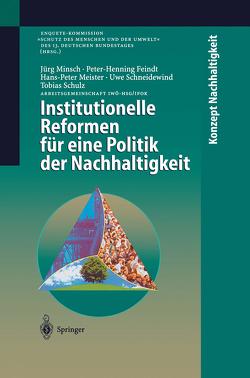 Institutionelle Reformen für eine Politik der Nachhaltigkeit von Feindt,  Peter-Henning, Meister,  Hans-Peter, Minsch,  Jörg, Mogalle,  M., Schneidewind,  Uwe, Schulz,  Tobias, Tscheulin,  J., Wepler,  C., Wüst,  J., Wüstenhagen,  R.