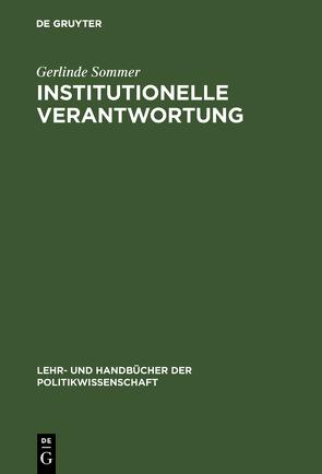 Institutionelle Verantwortung von Sommer,  Gerlinde