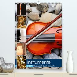Instrumente – Musikalisch durch das Jahr (Premium, hochwertiger DIN A2 Wandkalender 2021, Kunstdruck in Hochglanz) von Jäger,  Anette/Thomas