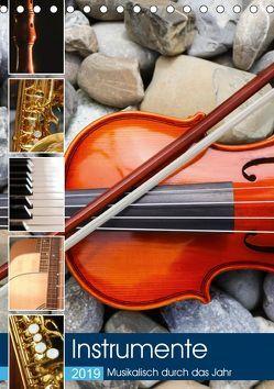 Instrumente – Musikalisch durch das Jahr (Tischkalender 2019 DIN A5 hoch)