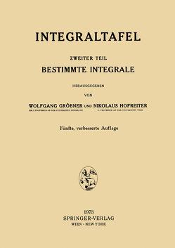 Integraltafel von Gröbner,  Wolfgang, Hofreiter,  Nikolaus