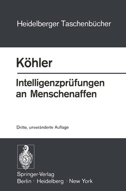 Intelligenzprüfungen an Menschenaffen von Koehler,  W.