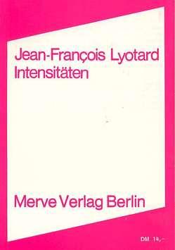 Intensitäten von Kurzawa,  Lothar, Lyotard,  Jean F, Schaefer,  Volker