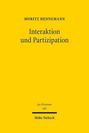 Interaktion und Partizipation von Hennemann,  Moritz