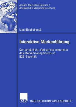 Interaktive Markenführung von Binckebanck,  Lars