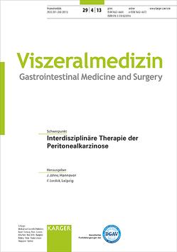 Interdisziplinäre Therapie der Peritonealkarzinose von Jähne,  J., Lordick,  F.