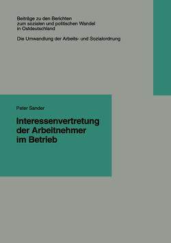 Interessenvertretung der Arbeitnehmer im Betrieb von Sander,  Peter