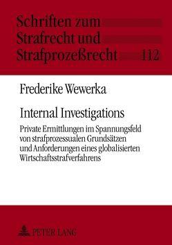 Internal Investigations von Wewerka,  Frederike