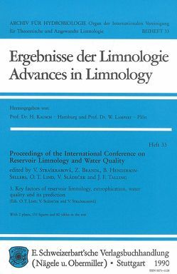 International Conference on Reservoir Limnology and Water Quality. Proceedings / Key factors of reservoir limnology, eutrophication, water quality and its prediction von Brandl,  Z, Lind,  O T, Sládećek,  V, Straškrabová,  V, Straσkrabová,  V
