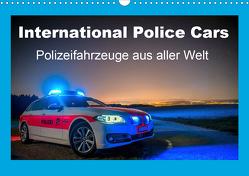International Police Cars, Polizeifahrzeuge aus aller Welt (Wandkalender 2021 DIN A3 quer) von u.a.,  KPH