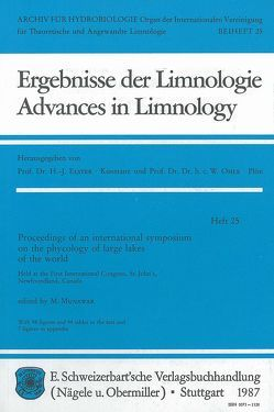 International Symposium on the phycology of large lakes of the world von Munawar,  M