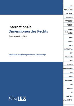 Internationale Dimensionen des Rechts von Burger,  Simon