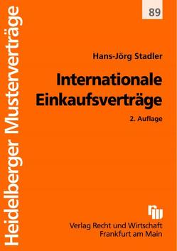 Internationale Einkaufsverträge von Stadler,  Hans J